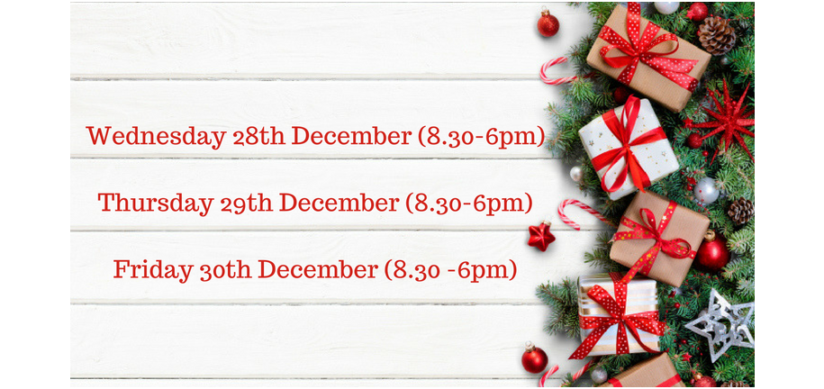Christmas Opening Times and Delivery