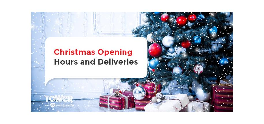 Christmas Opening Hours and Deliveries