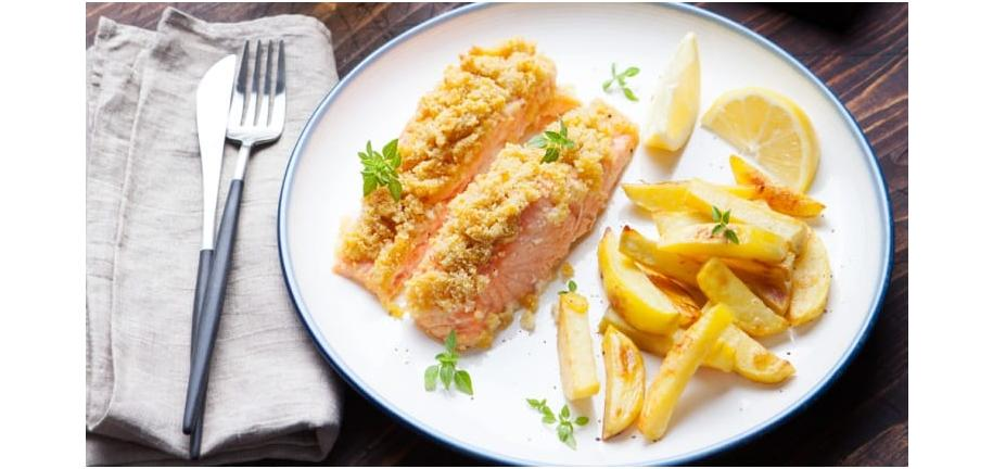 fish and chips on a plate