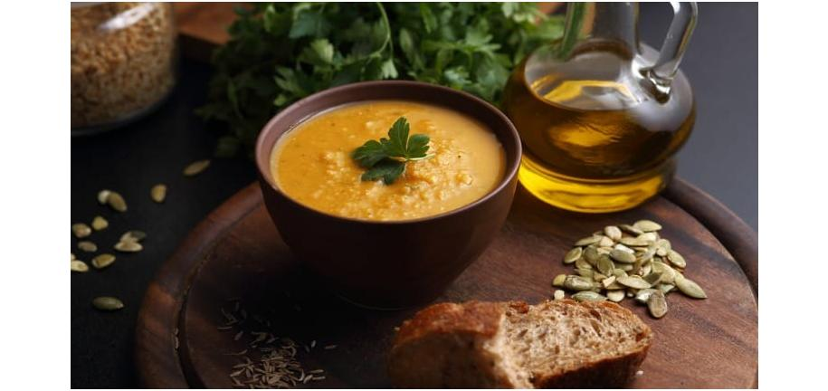 Tower Healthy Quick Dish: Creamy Pumpkin and Lentil Soup