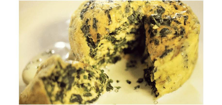 Retro Recipe Revival: Spinach Pudding with Blue Cheese Sauce