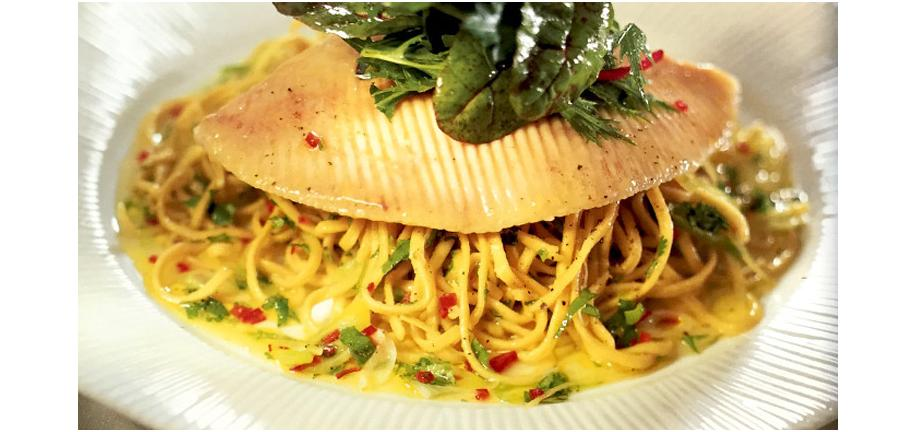 Retro Recipe Revival: Steamed Skate with Spicy Noodles