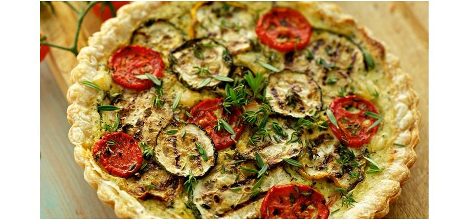 Tower Healthy Quick Dish: Grilled Vegetable and Feta Tart