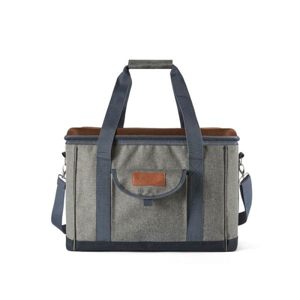 Heritage Foldable Picnic Cooler Green and Tan