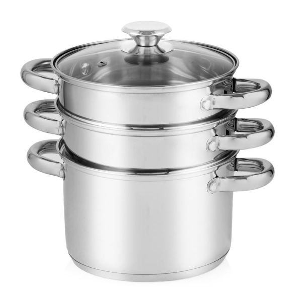 4 Piece Pasta And Stepped Steamer Set Stainless Steel