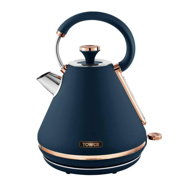 Cavaletto 3KW 1.7L Pyramid Kettle Midnight Blue and Rose Gold