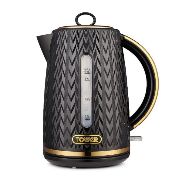 Empire 1.7 Litre Kettle with Brass Accents