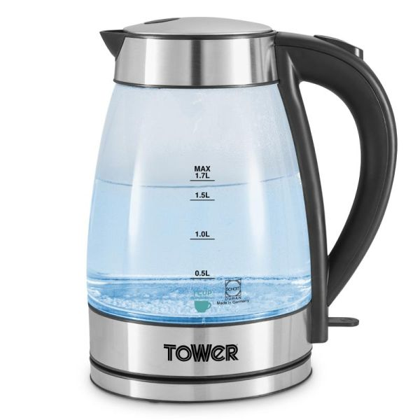 Tower 3KW 1.7L Colour Changing Glass Kettle