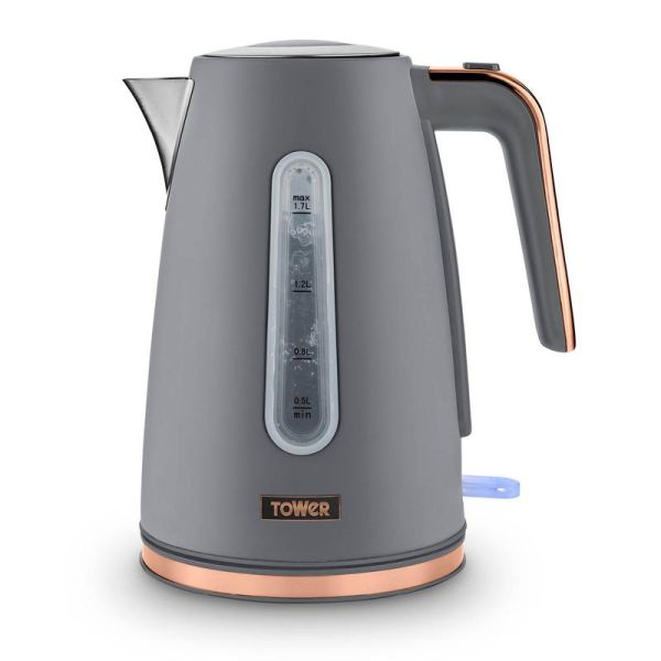 Cavaletto 1.7 Litre Jug Kettle with Rose Gold Accents