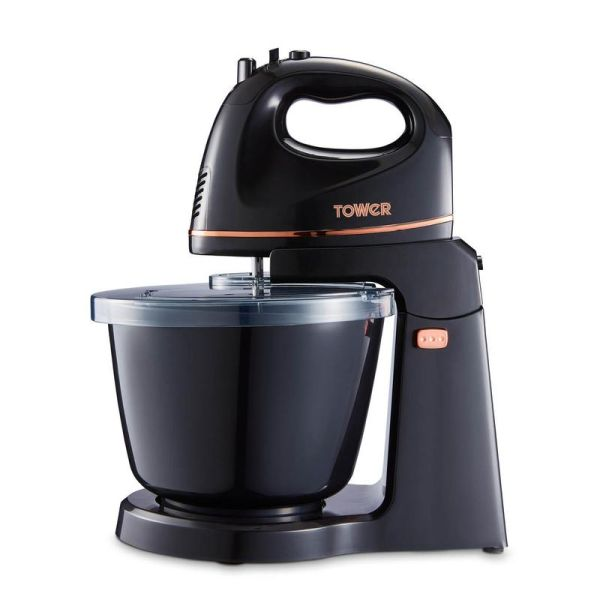 300W 2.5 Litre Hand And Stand Mixer Black