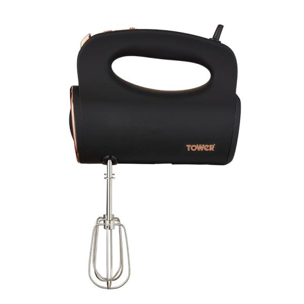 Cavaletto 300W Hand Mixer Black and Rose Gold
