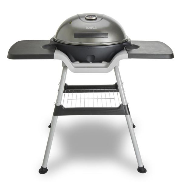 Cerasure+ Copper 2400W Electric BBQ Grill and Griddle with Wings and Thermometer Copper
