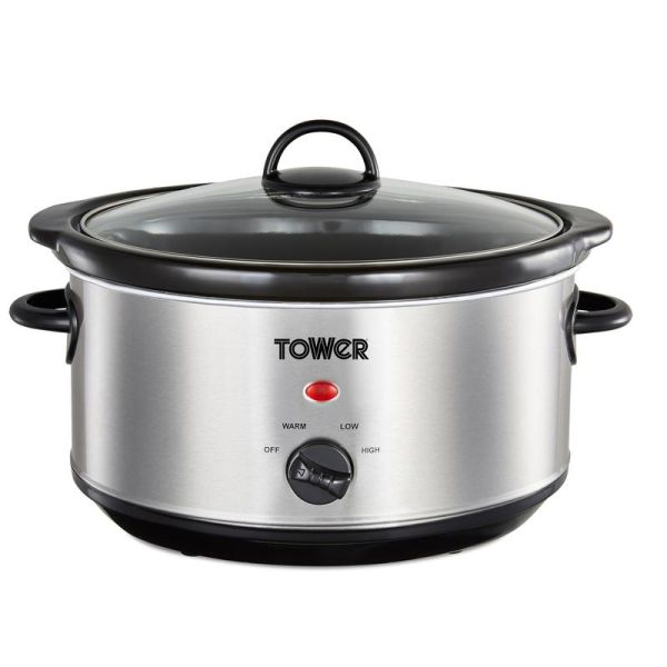 3.5 Litre Stainless Steel Slow Cooker