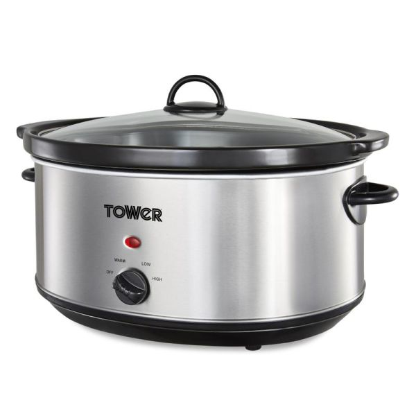 6.5 Litre Stainless Steel Slow Cooker