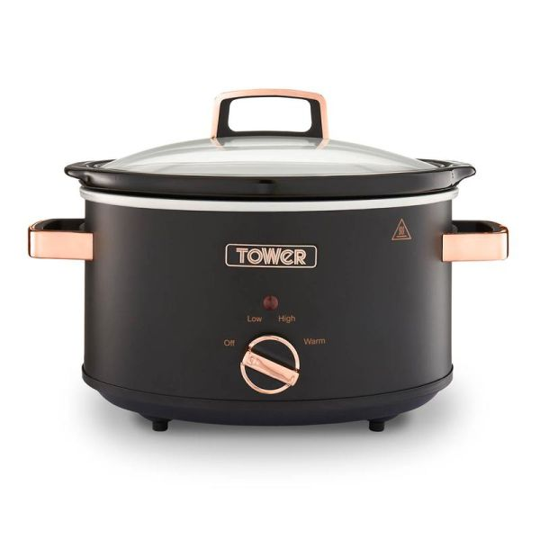 Cavaletto 3.5L S/S Slow Cooker Black  Rose Gold