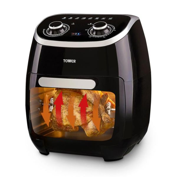 Vortx Xpress 2000W 11L 5-in-1 Manual Air Fryer Oven with Rotisserie