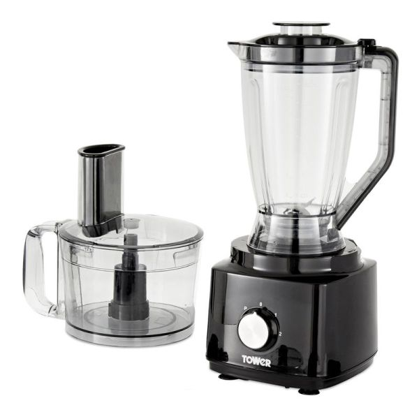 750W Food Processor and Blender with 2L Mixing Bowl and 1.8L Jug Black