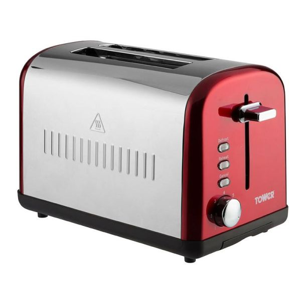 Infinity 2 Slice Stainless Steel Toaster Red