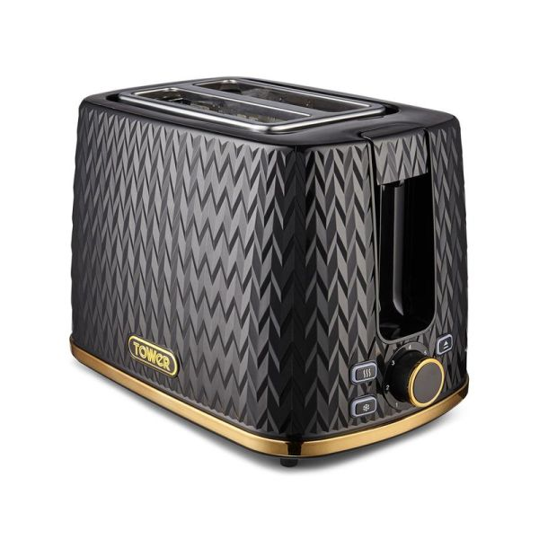 Empire 2 Slice Toaster with Brass Accents