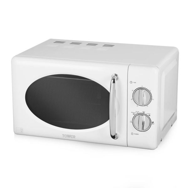 800W 20L Manual Microwave with Stainless Steel Interior