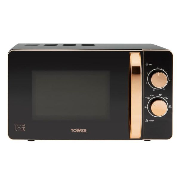 Rose Gold 800W 20 Litre Manual Microwave