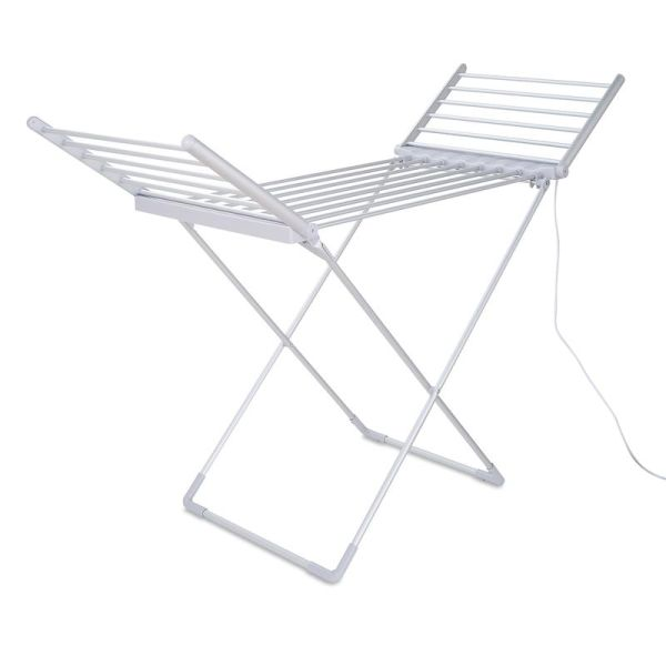 Y-Shaped Heated Clothes Airer with 2 Foldable Wings