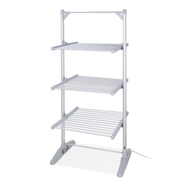 3 Tier Heated Airer Silver
