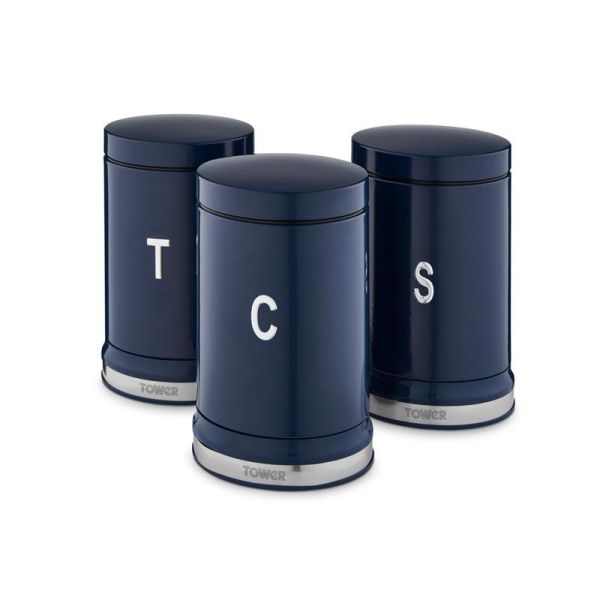 Belle Set of 3 Canisters Midnight Blue