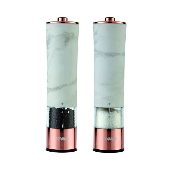 Marble Rose Gold Electric Salt & Pepper Mill