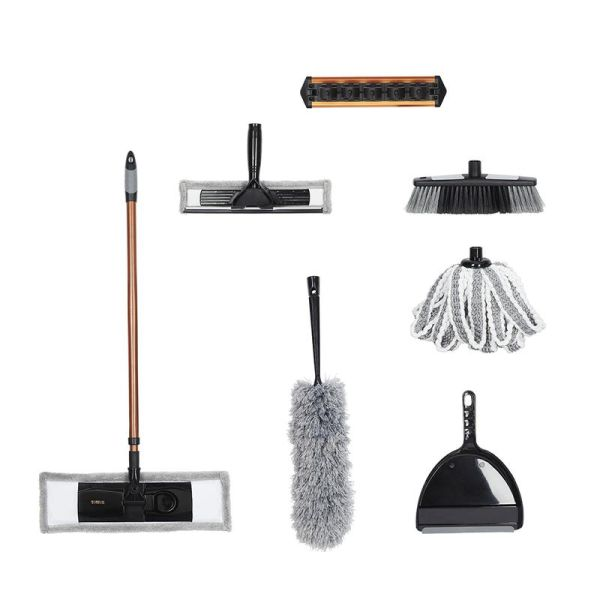 Tower Complete Cleaning Set Black and Blush Gold