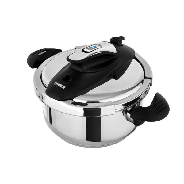 One-Touch Ultima 4L Pressure Cooker Stainless Steel