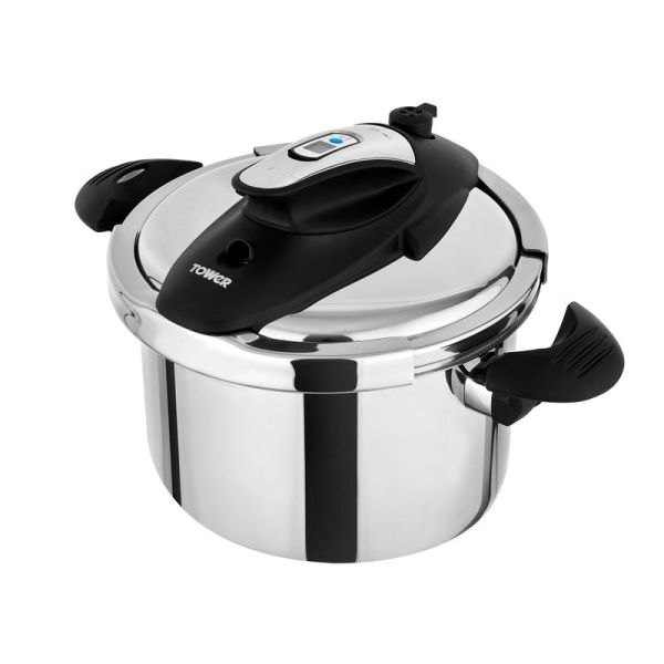 One-Touch Ultima 6L Pressure Cooker Stainless Steel