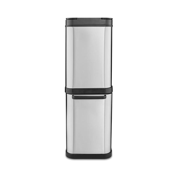 Freedom 50 Litre Stainless Steel Dual Recycling Bin