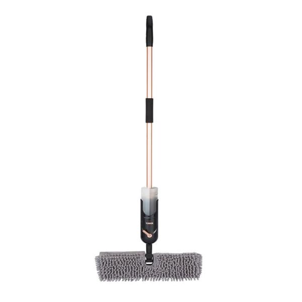 Dual Container Spray Mop Black And Blush Gold