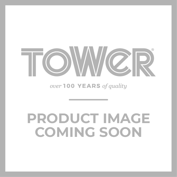 Empire 6 Cup Mug Tree and Towel Pole Set Black